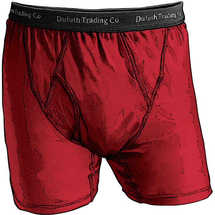 Duluth Trading Company Buck Naked Performance Briefs
