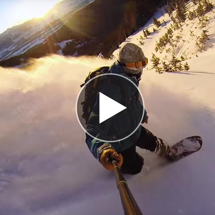 GoPro Line of Winter January Winner: Sunrise on Teton Pass