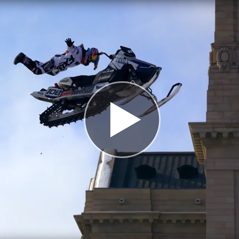 Urban Snowmobiling is a Thing?